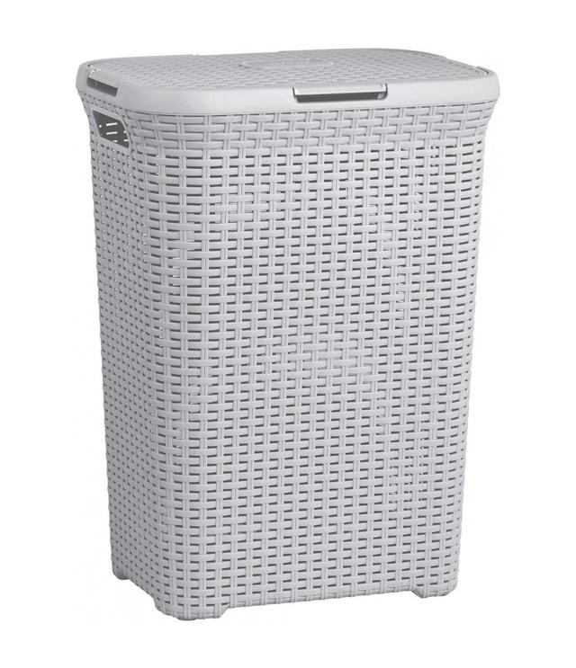 Curver koš na špinavé prádlo RATTAN 60 l - světle šedý 00707-099