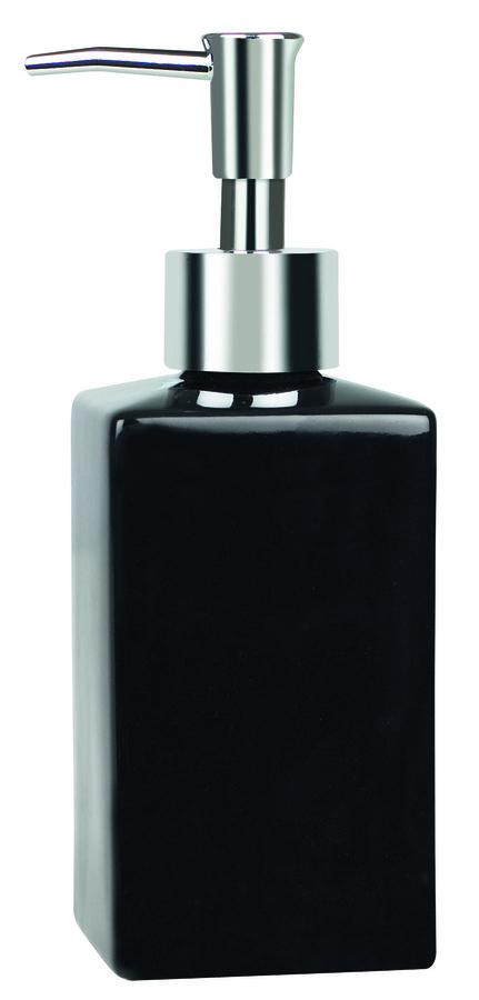 Spirella QUADRO BLACK dávkovač mýdla 1013662