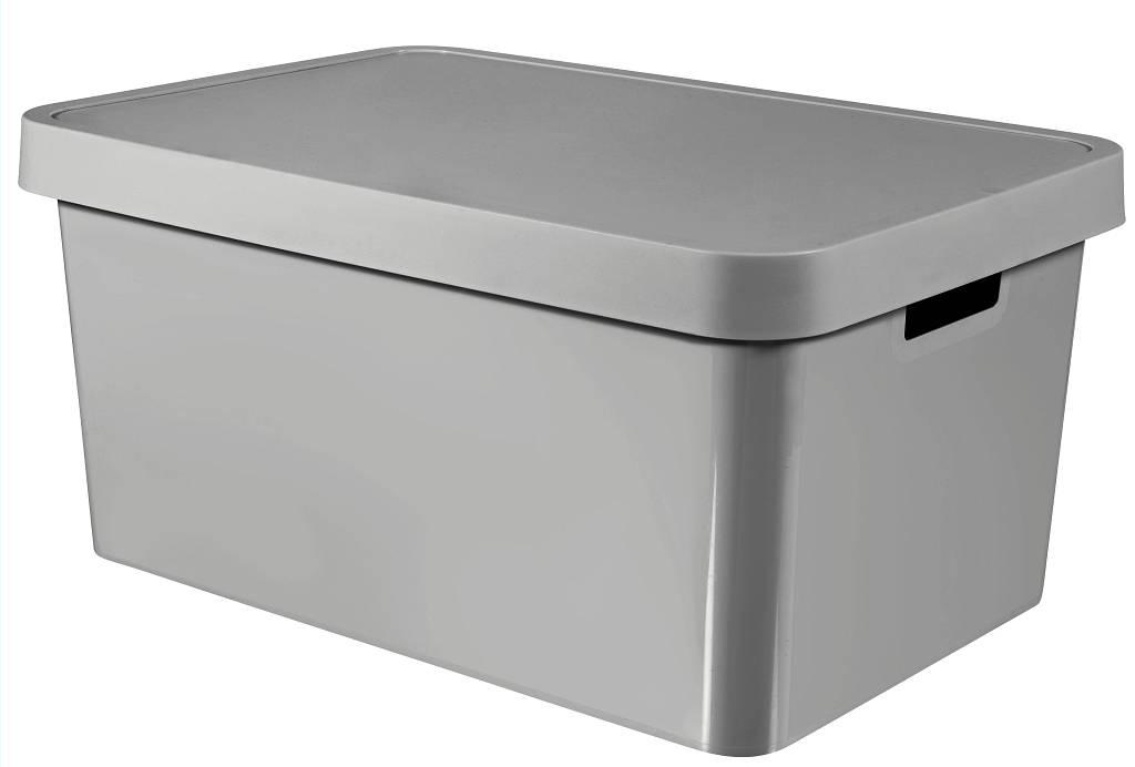 INFINITY úložný box 45l s víkem šedý 01721-099