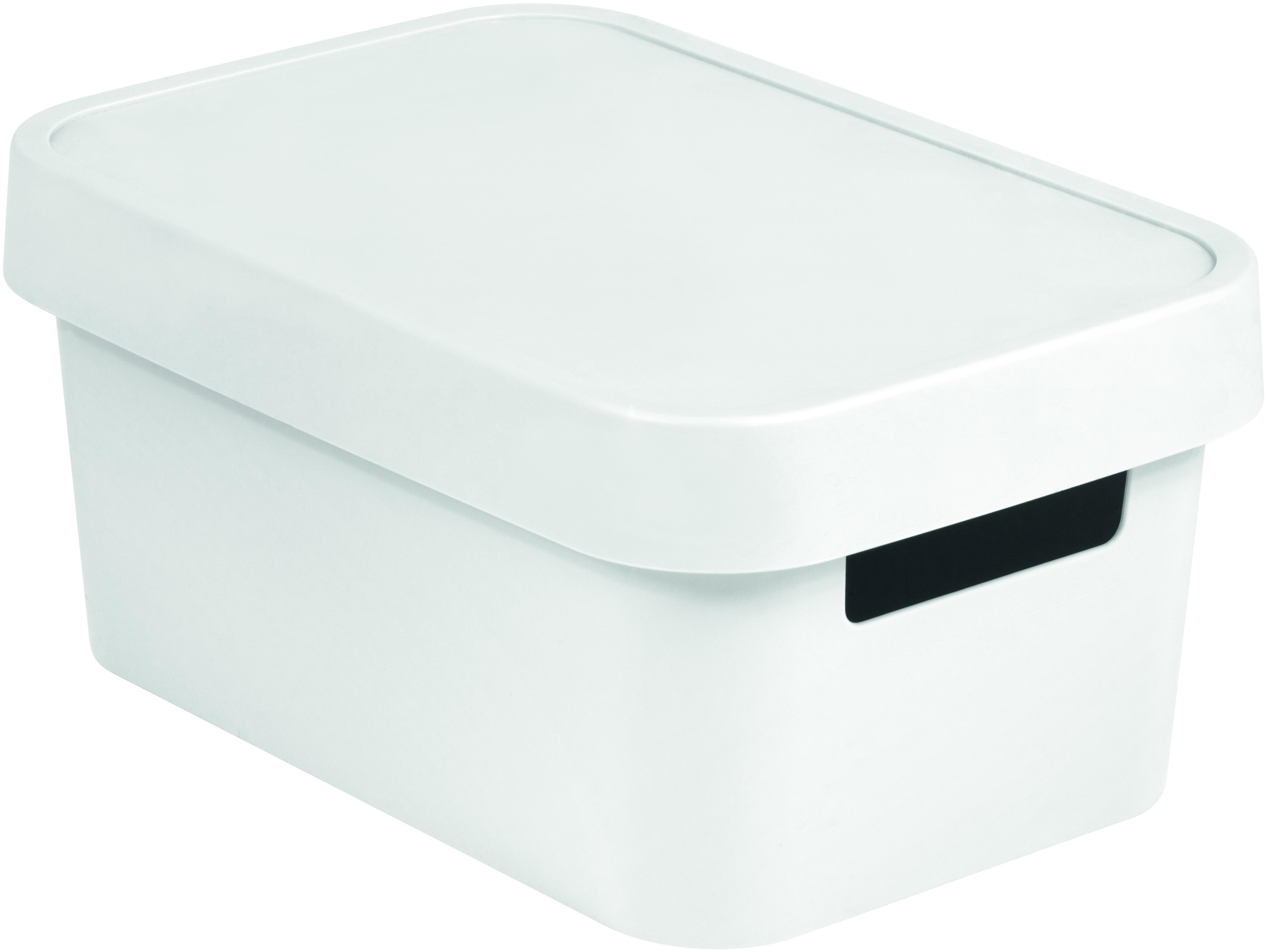 Úložný box INFINITY 4,5l s víkem bílý