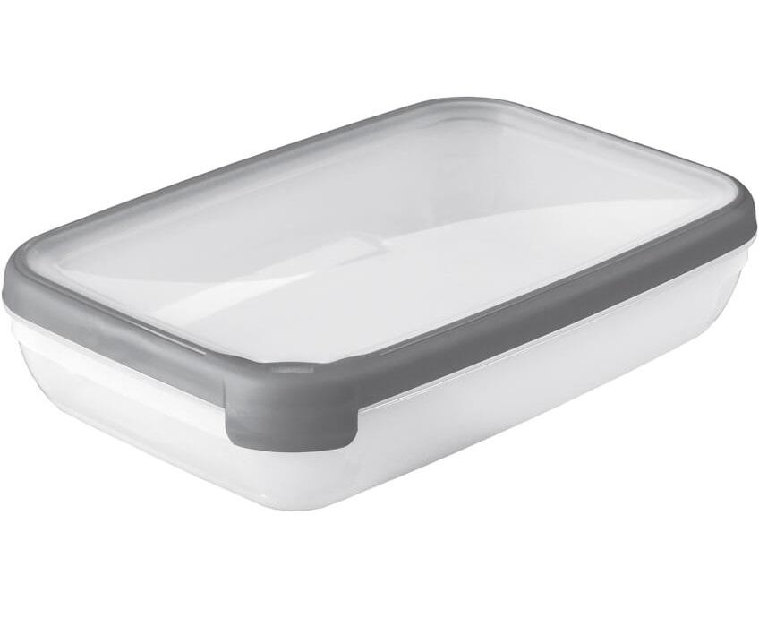 Dóza Grand Chef obdelníková 2,6L - průhledná /šedá