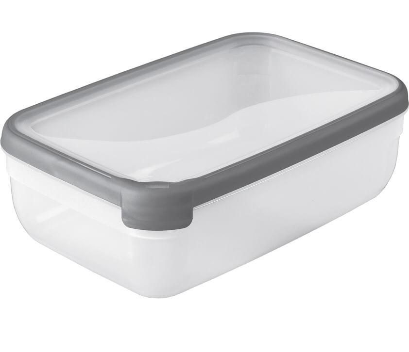 Dóza Grand Chef obdelníková 4L - průhledná /šedá