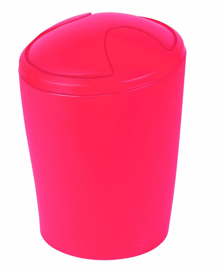 Spirella odpadkový koš 5 l MOVE - frosty red 1009598