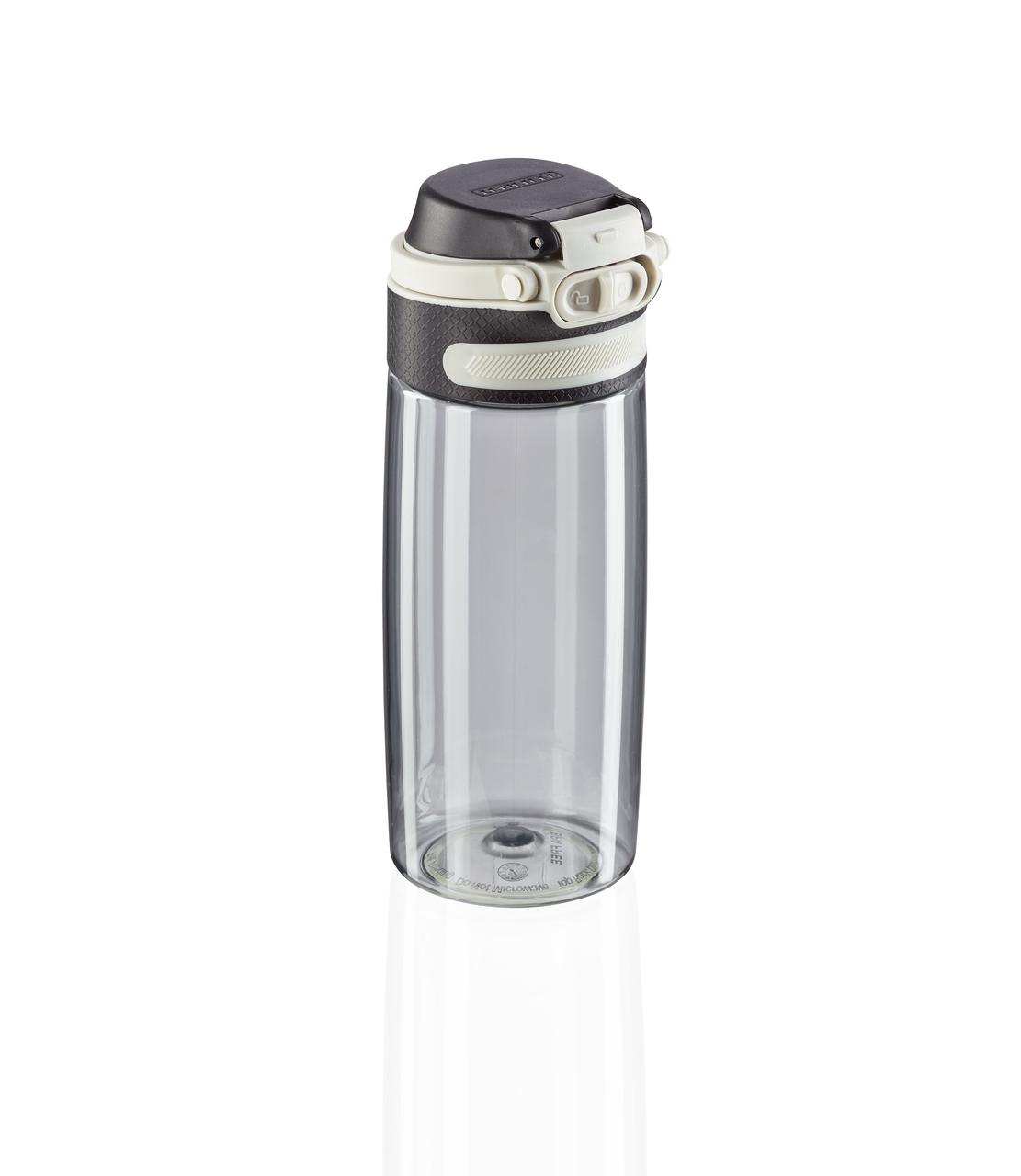 Tritanová láhev se šikovným uzávěrem 550 ml - stříbrná