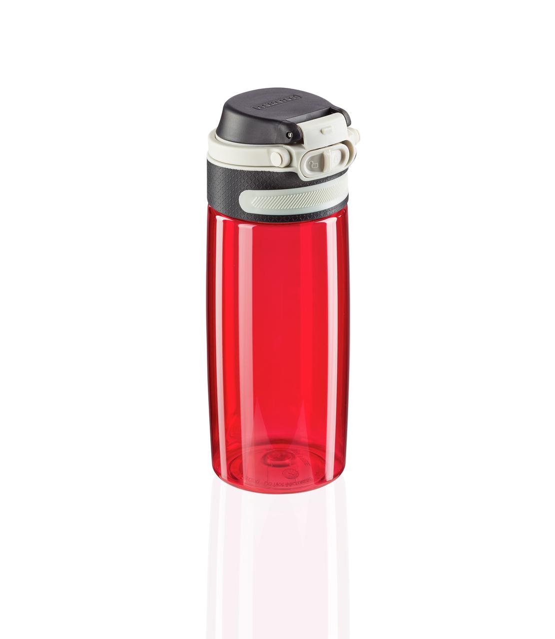 Tritanová láhev se šikovným uzávěrem 550 ml - červená