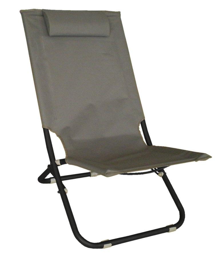 Skládací židle šedá 97816