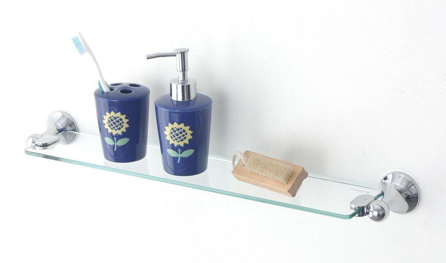 Skleněná koupelnová police Bath&home
