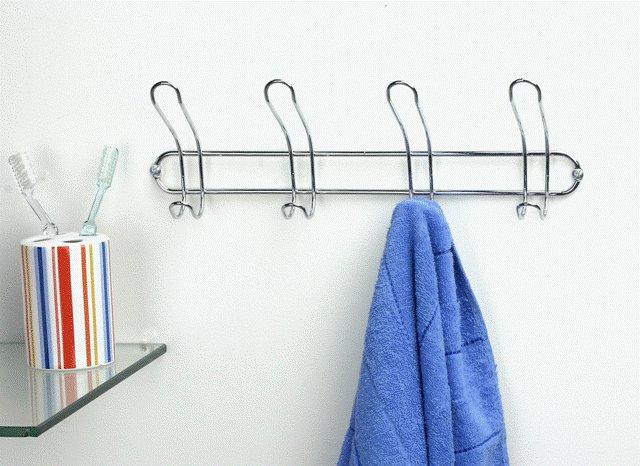 Vešák na 4 ručníky dvojitý